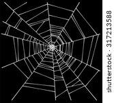 spider web illustration  | Shutterstock .eps vector #317213588