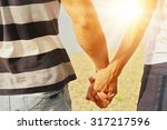 young man and woman couple... | Shutterstock . vector #317217596