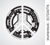 peace symbol  great for tattoo... | Shutterstock .eps vector #317226776