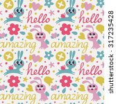seamless cute pattern made with ... | Shutterstock .eps vector #317235428