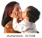an hispanic mother and her son... | Shutterstock . vector #317238