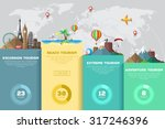 colorful travel vector... | Shutterstock .eps vector #317246396