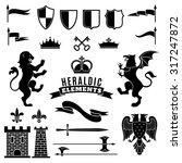 heraldic elements black white...   Shutterstock .eps vector #317247872