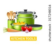 kitchen tools with vegetables...