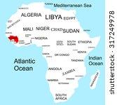 map of africa  guinea | Shutterstock .eps vector #317249978