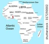 map of africa  togo | Shutterstock .eps vector #317250002