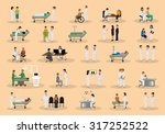 medical staff and patients... | Shutterstock .eps vector #317252522