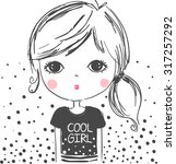 cute girl illustration.for... | Shutterstock .eps vector #317257292