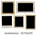 photo frames isolated on white | Shutterstock . vector #31726195