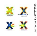 vector company logo icon... | Shutterstock .eps vector #317277788