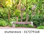 wooden bench among the... | Shutterstock . vector #317279168