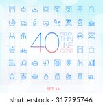 40 trendy thin icons for web... | Shutterstock .eps vector #317295746