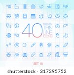 40 trendy thin icons for web... | Shutterstock .eps vector #317295752