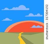 stylized simple barren... | Shutterstock .eps vector #317304152