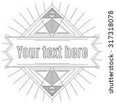 linear template for logos ... | Shutterstock .eps vector #317318078
