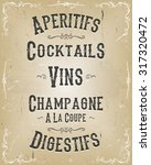 Alcohol And Beverage Poster...