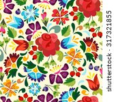 awesome floral pattern in... | Shutterstock .eps vector #317321855