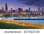 Chicago Skyline. Image Of...