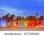 miami beach florida  sunset... | Shutterstock . vector #317330342