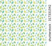 leaves pattern grean | Shutterstock .eps vector #317331542