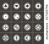vector dice icon set on black... | Shutterstock .eps vector #317335796