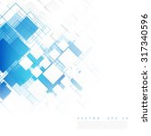 vector blue squares. abstract...   Shutterstock .eps vector #317340596