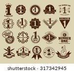 vintage retro the number one  ... | Shutterstock .eps vector #317342945