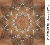brown mandala star | Shutterstock . vector #317342948