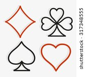 playing card symbols in modern... | Shutterstock .eps vector #317348555