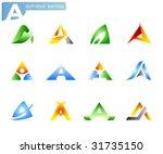alphabet a symbols | Shutterstock .eps vector #31735150