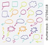 doodle arrows vector color set | Shutterstock .eps vector #317356118