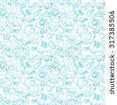 seamless doodle pattern of... | Shutterstock .eps vector #317385506