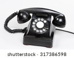 An Old Bakelite Dial Phone.