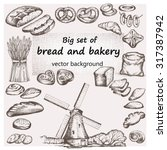 bread and bakery. hand drawn... | Shutterstock .eps vector #317387942