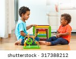 african american brothers child ... | Shutterstock . vector #317388212