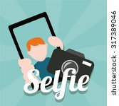 selfie kids illustration over... | Shutterstock .eps vector #317389046