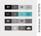 group of elegant brochures with ... | Shutterstock .eps vector #317393576
