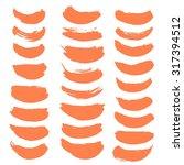 large set of vector brush... | Shutterstock .eps vector #317394512