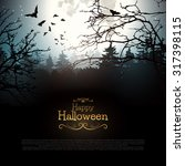 Halloween Creepy Forest With...