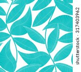 turquoise and white tropical... | Shutterstock .eps vector #317403962