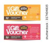 gift voucher template with...   Shutterstock .eps vector #317404835