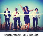 business people competition... | Shutterstock . vector #317405885
