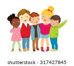 group of kids | Shutterstock .eps vector #317427845