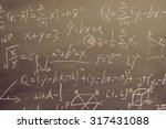 maths formulas written by white ... | Shutterstock . vector #317431088