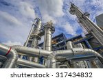 refinery tower structure in... | Shutterstock . vector #317434832