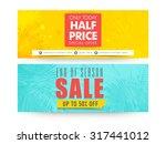 creative website header or... | Shutterstock .eps vector #317441012