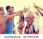 friendship summer beach party...   Shutterstock . vector #317441336