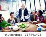 diverse ethnic business... | Shutterstock . vector #317441426