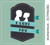 love card design  vector... | Shutterstock .eps vector #317446382