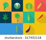 vegetables icons | Shutterstock .eps vector #317452118